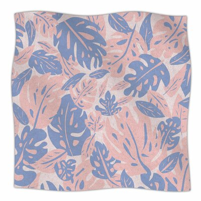 Rose Quartz & Serenity Jungle By Will Wild Fleece Blanket Size: 60 L x 50 W x 1 D