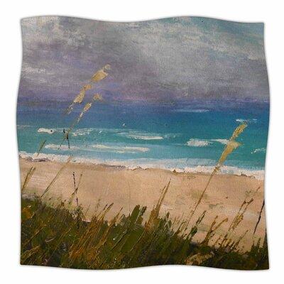 Florida Beach Scene By Carol Schiff Fleece Blanket Size: 60 L x 50 W x 1 D