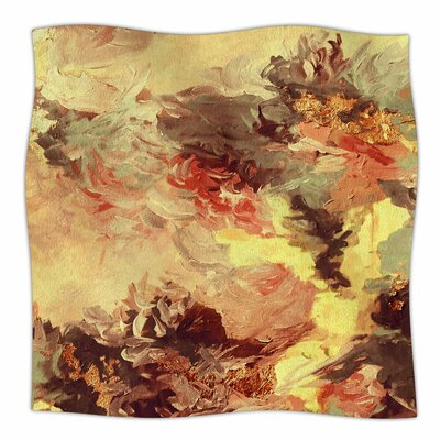 When We Were Mermaids 9 By Ebi Emporium Fleece Blanket Size: 60 L x 50 W x 1 D, Color: Yellow/Tan