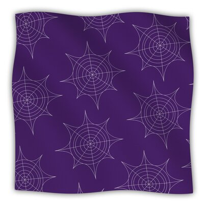 Spiderwebs Fleece Blanket Size: 60 W x 80 L, Color: Purple