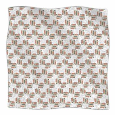 Geo 2 By Juliana Motzko Fleece Blanket Size: 60 L x 50 W x 1 D