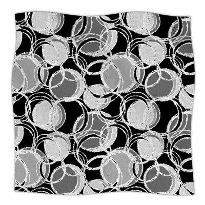 Simple Grey Circles By Julia Grifol Fleece Blanket Size: 60 L x 50 W x 1 D