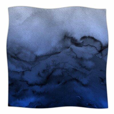 Winter Waves  By Ebi Emporium Fleece Blanket Size: 80 L x 60 W x 1 D, Color: Blue/Black