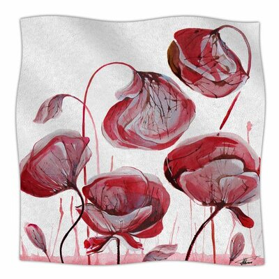 'Poppies' By Ivan Joh Fleece Blanket Size: 80