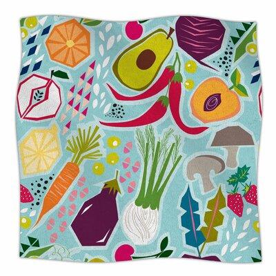 Garden Song By Agnes Schugardt Fleece Blanket Size: 80 L x 60 W x 1 D