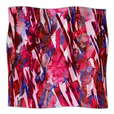 Frosty Bouquet By Ebi Emporium Fleece Blanket Size: 60 L x 50 W x 1 D, Color: Maroon