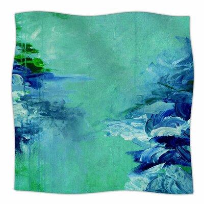 Winter Dreamland  By Ebi Emporium Fleece Blanket Size: 60 L x 50 W x 1 D, Color: Green/Blue