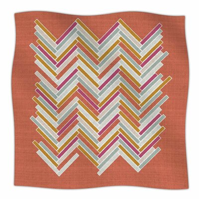 Herringbone Weave Bold By Pellerina Design Fleece Blanket Size: 80 L x 60 W x 1 D