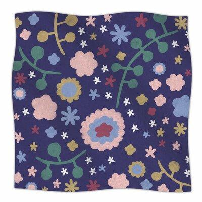 Night Floral By Alik Arzoumanian Fleece Blanket Size: 80 L x 60 W x 1 D