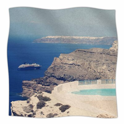 Greek Paradise By Sylvia Coomes Fleece Blanket Size: 60 L x 50 W x 1 D