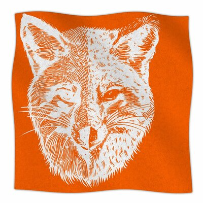 Foxface By BarmalisiRTB Fleece Blanket Size: 60 L x 50 W x 1 D