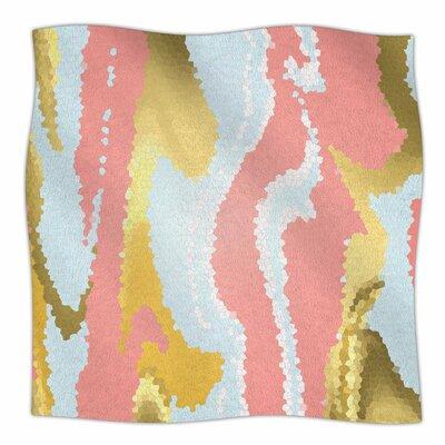Modern Mosaic By Alison Coxon Fleece Blanket Size: 80 L x 60 W x 1 D