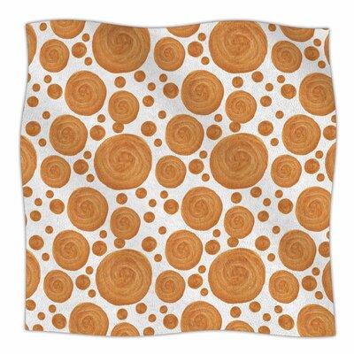 Gold Pattern By Alisa Drukman Fleece Blanket Size: 80 L x 60 W x 1 D