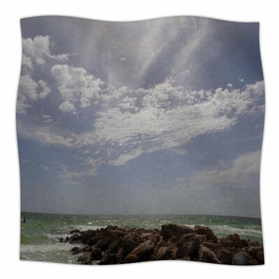 Clouds By Rosie Brown Fleece Blanket Size: 80 L x 60 W x 1 D