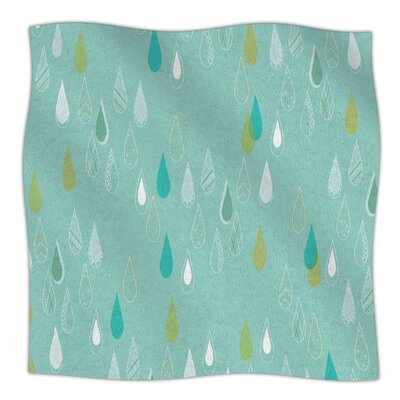 Feathered Rain By Bridgette Burton Fleece Blanket Size: 60 L x 50 W x 1 D