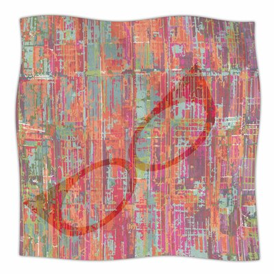 Retro Graffiti By Bridgette Burton Fleece Blanket Size: 80 L x 60 W x 1 D
