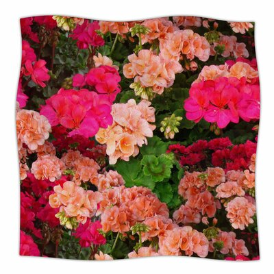 Geranios By Louise Machado Fleece Blanket Size: 60 L x 50 W x 1 D