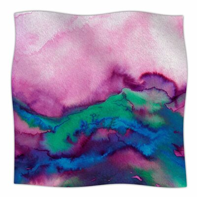 Winter Waves  By Ebi Emporium Fleece Blanket Size: 60 L x 50 W x 1 D, Color: Pink