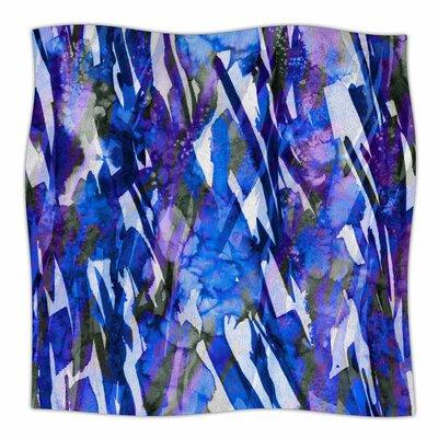 Frosty Bouquet By Ebi Emporium Fleece Blanket Size: 60 L x 50 W x 1 D, Color: Blue/Purple