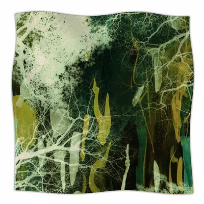 Tree Of Life By Iris Lehnhardt Fleece Blanket Size: 60 L x 50 W x 1 D, Color: Green