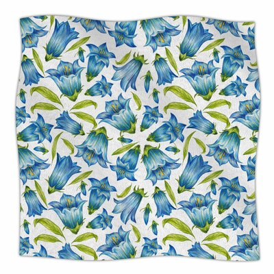Campanula By Alisa Drukman Fleece Blanket Size: 80 L x 60 W x 1 D
