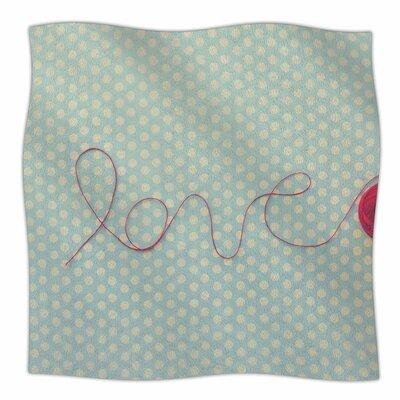 String Of Love By Kristi Jackson Fleece Blanket Size: 80 L x 60 W x 1 D