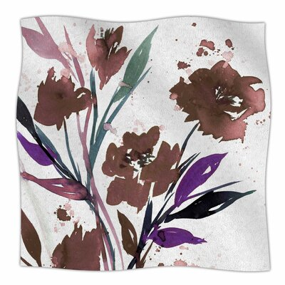 Pocket Full Of Posies By Ebi Emporium Fleece Blanket Size: 60 L x 50 W x 1 D, Color: Brown