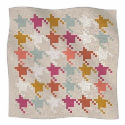 Houndstooth Panel By Pellerina Design Fleece Blanket Size: 60 L x 50 W x 1 D
