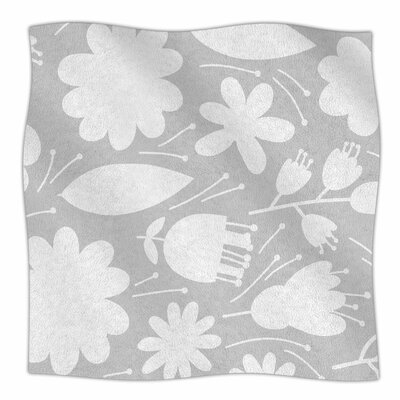 Leaf By Petit Griffin Fleece Blanket Size: 80 L x 60 W x 1 D