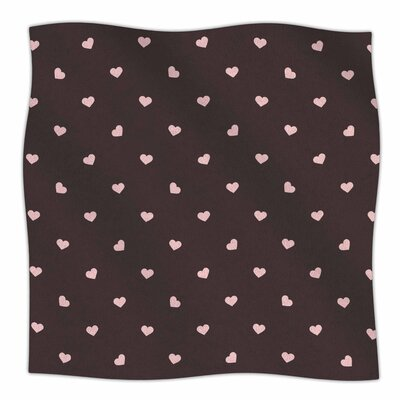 Hearts And Love By Vasare Nar Fleece Blanket Size: 80 L x 60 W x 1 D