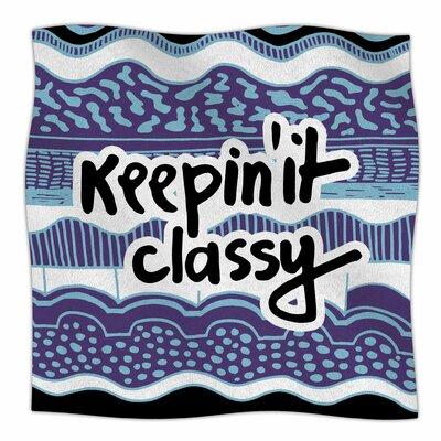 Keepin It Classy By Vasare Nar Fleece Blanket Size: 80 L x 60 W x 1 D