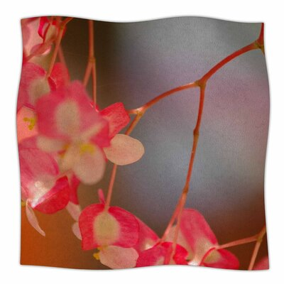 Hanging Flowers By NL Designs Fleece Blanket Size: 80 L x 60 W x 1 D