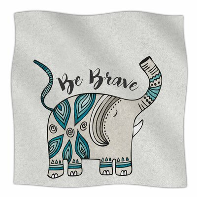 Be Brave By Pom Graphic Design Fleece Blanket Size: 80 L x 60 W x 1 D