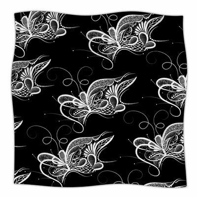 Butterfly By Maria Bazarova Fleece Blanket Size: 80 L x 60 W x 1 D