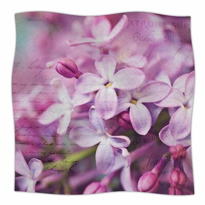 French Lilacs By Sylvia Cook Fleece Blanket Size: 80 L x 60 W x 1 D