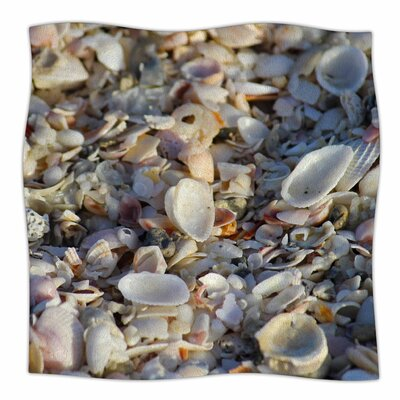 Seashells On The Beach By Philip Brown Fleece Blanket Size: 60 L x 50 W x 1 D