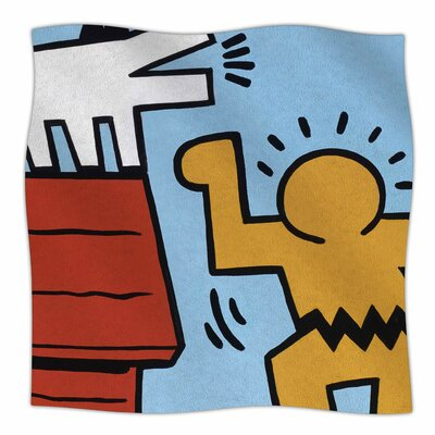 Hearing Schulz By Jared Yamahata Fleece Blanket Size: 60 L x 50 W x 1 D