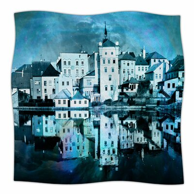 Sky At Night by Suzanne Carter Fleece Blanket Size: 60 W x 80 L, Color: Blue