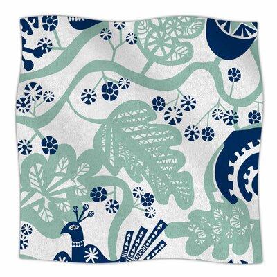 Folk Birds By Agnes Schugardt Fleece Blanket Size: 60 L x 50 W x 1 D