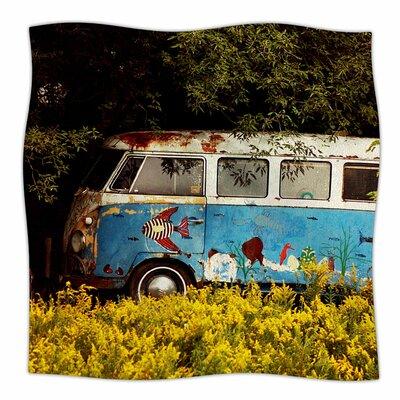 Hippie Bus By Angie Turner Fleece Blanket Size: 60 L x 50 W x 1 D