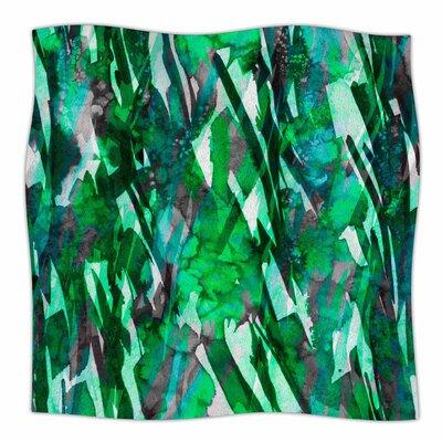 Frosty Bouquet By Ebi Emporium Fleece Blanket Size: 60 L x 50 W x 1 D, Color: Green