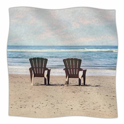 A Great View By Sylvia Cook Fleece Blanket Size: 60 L x 50 W x 1 D