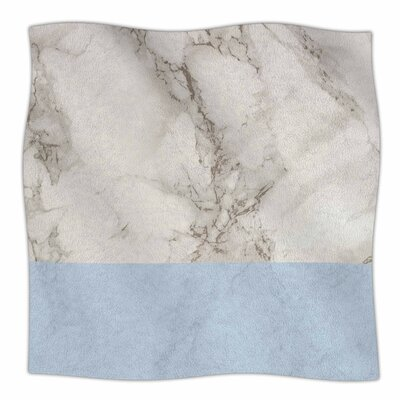 Marble By Suzanne Carter Fleece Blanket Size: 60 L x 50 W x 1 D, Color: Blue