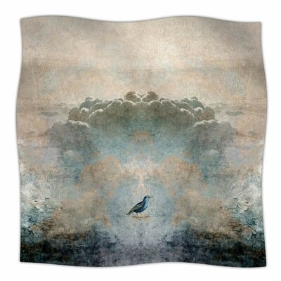 'Heavenly Bird' By Pia Schneider Fleece Blanket Size: 80