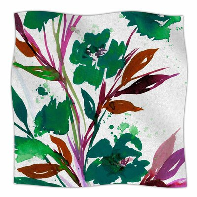Pocket Full Of Posies By Ebi Emporium Fleece Blanket Size: 60 L x 50 W x 1 D, Color: Teal