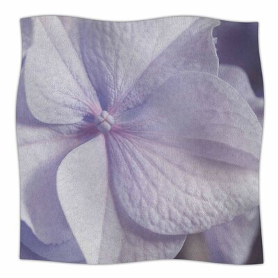 Pastel Hydrangea Flower By Suzanne Harford Fleece Blanket Size: 60 L x 50 W x 1 D