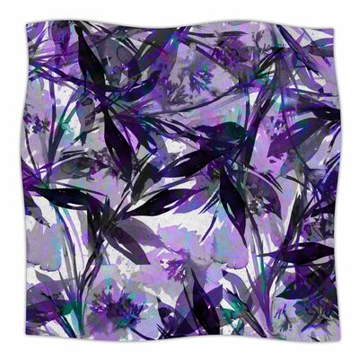 'Floral Fiesta' By Ebi Emporium Fleece Blanket Color: Lavender, Size: 80