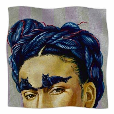 Frida Katlo By Jared Yamahata Fleece Blanket Size: 80 L x 60 W x 1 D
