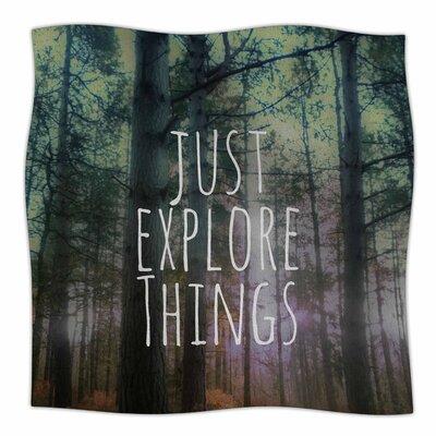 Just Explore Things By Alison Coxon Fleece Blanket Size: 80 L x 60 W x 1 D