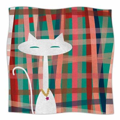 Here Kitty Kitty By Bridgette Burton Fleece Blanket Size: 80 L x 60 W x 1 D